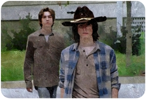 Ron Anderson Carl Grimes The Walking Dead Heads Up