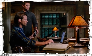Sam Dean bunker beer Supernatural Thin LIzzie