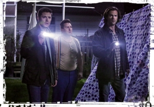 Dean Sully Sam flashlights Supernatural Just My imagination