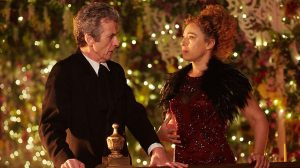 Doctor Peter Capaldi River Song lights Alex Kingston Doctor Who The Husbands of River Song