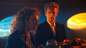 River Song and Doctor in the TARDIS Doctor Who The Husbands of River Song