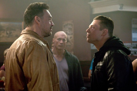 """Supernatural -- """"Beyond The Mat"""" -- Image SN1115a_0214.jpg -- Pictured (L-R): Aleks Paunovic as Gunnar Lawless and Michael """"The Miz"""" Mizanin as Shawn Harley -- Photo: Liane Hentscher/The CW -- © 2016 The CW Network, LLC. All Rights Reserved"""