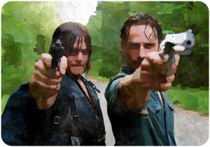 Daryl Dixon (Norman Reedus) and Rick Grimes (Andrew Lincoln) The Walking Dead