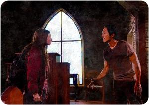 Glenn Enid argue 2 The Walking Dead No Way Out