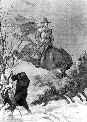 Odin's Hunt by August Malmström, 1901