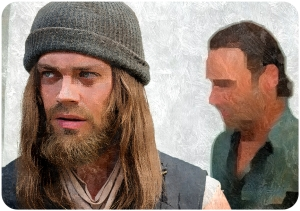 Paul Jesus Monroe (Tom Payne) and Rick Grimes (Andrew Lincoln) The Walking Dead The Next World