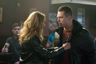 "Supernatural -- ""Beyond The Mat"" -- Image SN1115a_0227.jpg -- Pictured (L-R): Jackie Debatin as Rio and Michael ""The Miz"" Mizanin as Shawn Harley -- Photo: Liane Hentscher/The CW -- © 2016 The CW Network, LLC. All Rights Reserved."