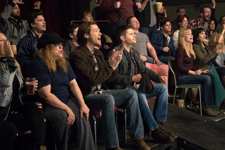 "Supernatural -- ""Beyond The Mat"" -- Image SN1115b_0262.jpg -- Pictured (L-R): Jared Padalecki as Sam and Jensen Ackles as Dean -- Photo: Liane Hentscher/The CW -- © 2016 The CW Network, LLC. All Rights Reserved."