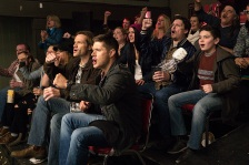 "Supernatural -- ""Beyond The Mat"" -- Image SN1115b_0287.jpg -- Pictured (L-R): Jared Padalecki as Sam and Jensen Ackles as Dean -- Photo: Liane Hentscher/The CW -- © 2016 The CW Network, LLC. All Rights Reserved."