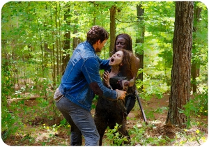 Spencer Monroe (Austin Nichols) and Michonne (Danai Gurira) The Walking Dead The Next World