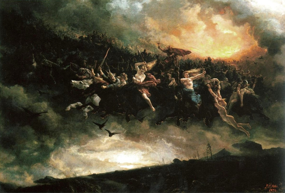 The Wild Hunt Asgårdsreien by Peter Nicolai Arbo 1872