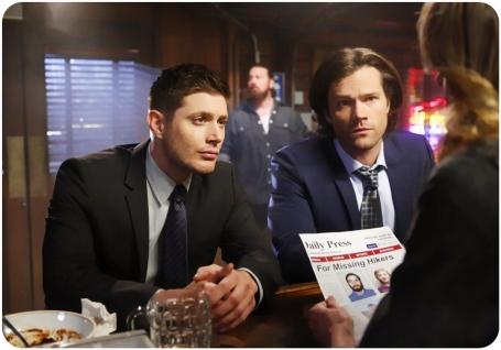 Dean Sam bar Supernatural Red Meat
