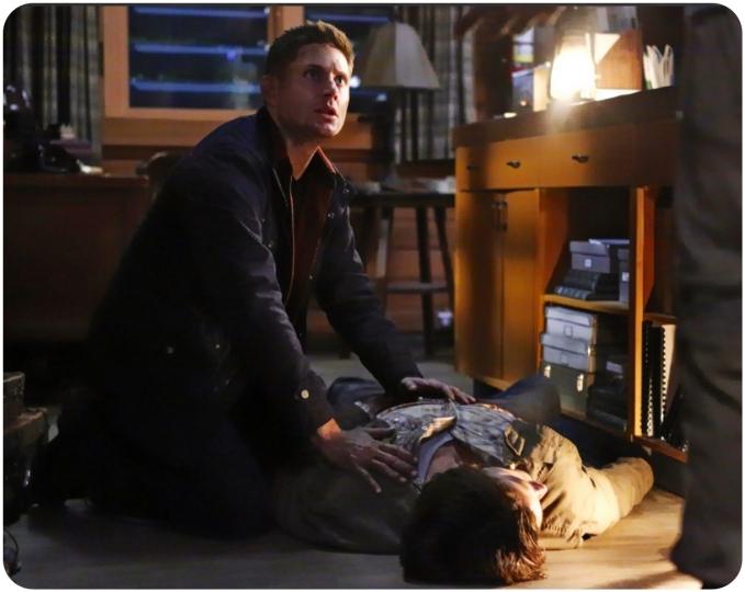 Dean shock Supernatural Red Meat