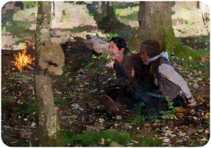 Glenn Michonne captured 2 The Walking Dead East