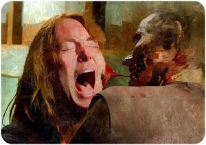 Paula eaten by walkier The Walking Dead The Same Boat