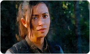 Rosita listening The Walking Dead Twice as Far