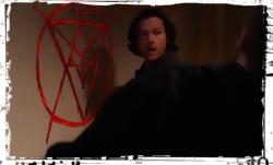 Sam paints sigill Supernatural Safe House