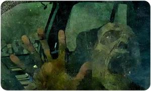 walker in car The Walking Dead Twice as Far
