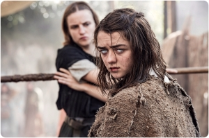 Arya Starck staff fight Game of Thrones The Red Woman