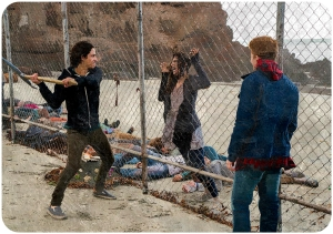 Chris killing walkers Fear the Walking Dead We All Fall Down