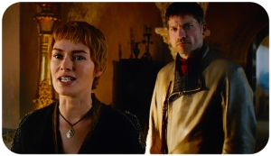 Cersei and Jaimie Lannister Game of Thrones Book of the Stranger
