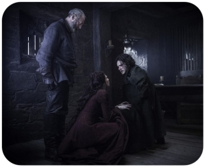 Davos Melisandre Jon Snow Game of Thrones Oathbreaker