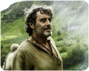 Brother Ray Ian McShane side Game of Thrones The Broken Man