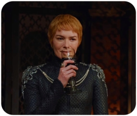 Cersei celebrates Game of Thrones The Winds of Winter