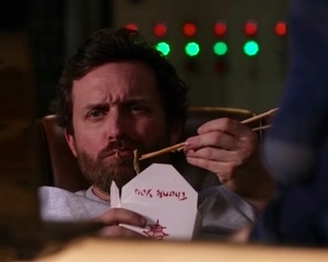 Chuck eating chinese food 2 Supernatural