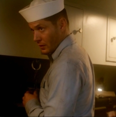 Dean Winchester in sailor uniform