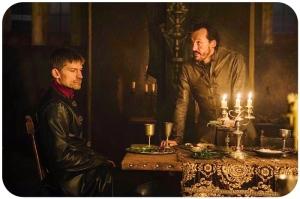 Jaimee Bronn dinner Game of Thrones The Winds of Winter