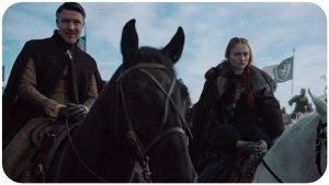 Sansa Stark Petyr Baelish Game of Thrones Battle of the Bastards