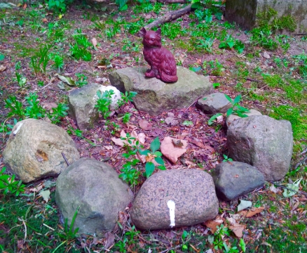 Lily Dale Pet Cemetery brown cat