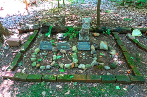 Lily Dale Pet Cemetery dog group