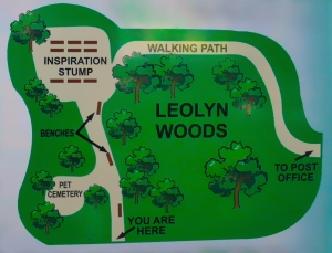 Lily Dale Pet Cemetery Leolyn Woods map