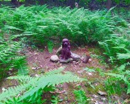 Lily Dale Pet Cemetery poodle