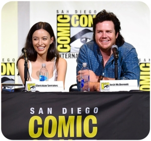The Walking Dead Comic Con Christian Serratos Josh