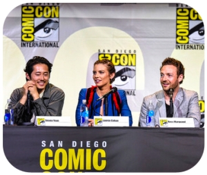 The Walking Dead Comic Con Steven Yeun Marquand Cohan