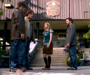 Becky loves it when the Winchesters speak at the same time.