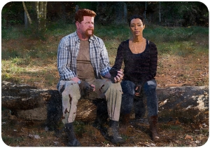 Abraham Sasha The Walking Dead First Day