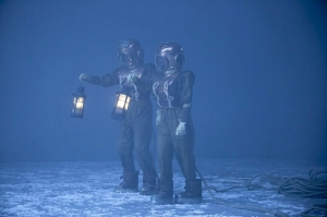 Doctor Bill diving suits on ice Doctor Who Thin Ice