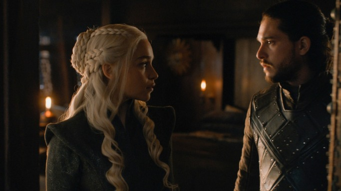 Daenerys Jon Snow Game of Thrones The Dragon and the Wolf
