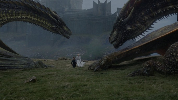 Daenerys Tyrion dragons Game of Thrones Beyond the Wall
