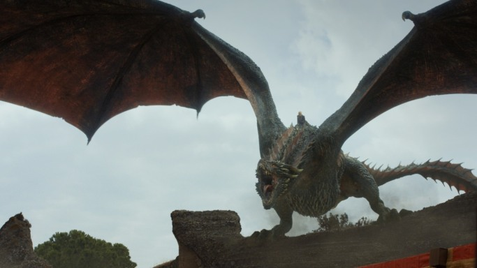 Drogon Game of Thrones The Dragon and the Wolf