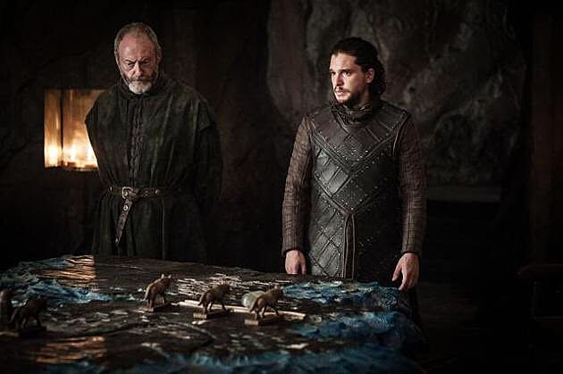 Jon Snow Davos Seaworth Game of Thrones Eastwatch
