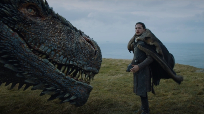 Jon Snow Drogon Game of Thrones Eastwatch