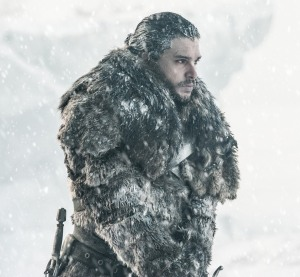 Jon Snow in snow Game of Thrones Beyond the Wall