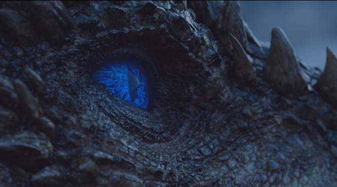 Viserion blue eye Gameo f Thrones Beyond the Wall