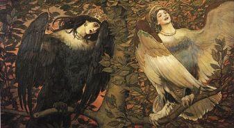 Viktor Vasnetsov. Sirin (right) and Alkonost (left) Birds of Joy and Sorrow (1896)
