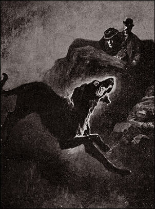 Sidney Paget's illustration of The Hound of the Baskervilles.